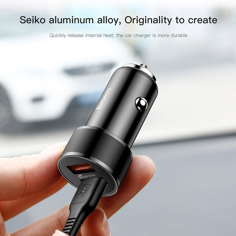 Baseus QC 3.0 36W Dual USB Car Charger Adapter For iPhone Samsung Xiaomi HUAWEI Sony LG HTC Fast Car Mobile Phone Charger - Hot Phone Tech