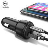 Mcdodo 36W Dual USB C PD Quick Charge QC 3.0 Car Charger PD Type C AFC SCP  For iPhone HTC Samsung HTC LG Google Universal Mobile Phone Charger - Hot Phone Tech