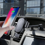 Baseus QI Wireless Charger Gravity Car Phone Holder for iPhone Samsung HTC HUAWEI Google LG Fast Wireless Charging Charger Car Mount Phone Stand - Hot Phone Tech