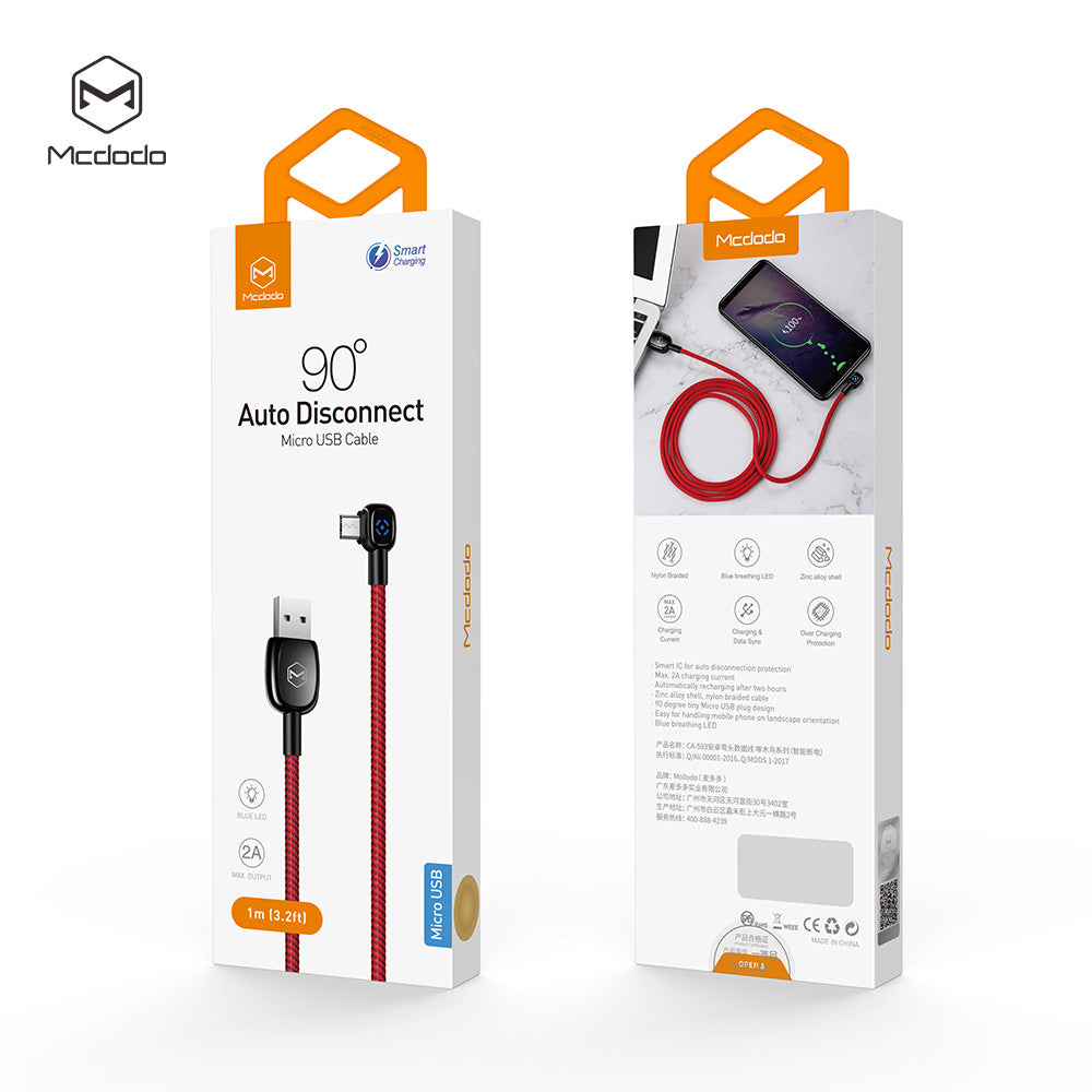 Mcdodo Woodpecker Series Micro USB 3.1  Fast QC3.0 Charging Quick Charger Data Sync Cable Cord For Android Samsung Google LG HTC - Hot Phone Tech
