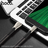 HOCO Durable Nylon Micro USB Cable For Samsung Google HTC LG HUAWEI ALL Android Device 2.4A Fast Charging Sync Data Cable Microusb Charger Cord - Hot Phone Tech