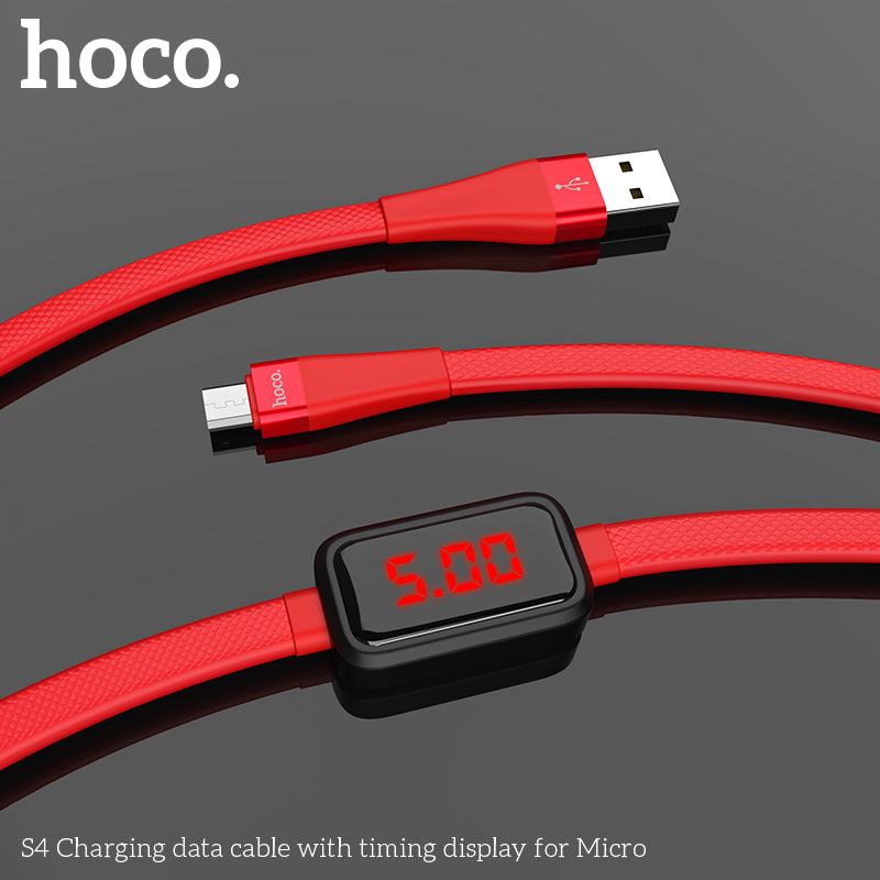 HOCO D-Line2 Micro USB Cable Voltage and Current Display Data Sync USB Cable For Samsung Xiaomi Huawei Microusb Cable - Hot Phone Tech