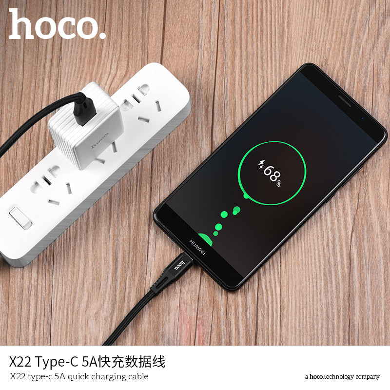 HOCO Original 5A Quick Charger Cable USB Type-C  Charging Cable QC 3.0 Charger USB C Type-C Cable For Samsung LG Google HUAWEI HTC ALL Android Device - Hot Phone Tech