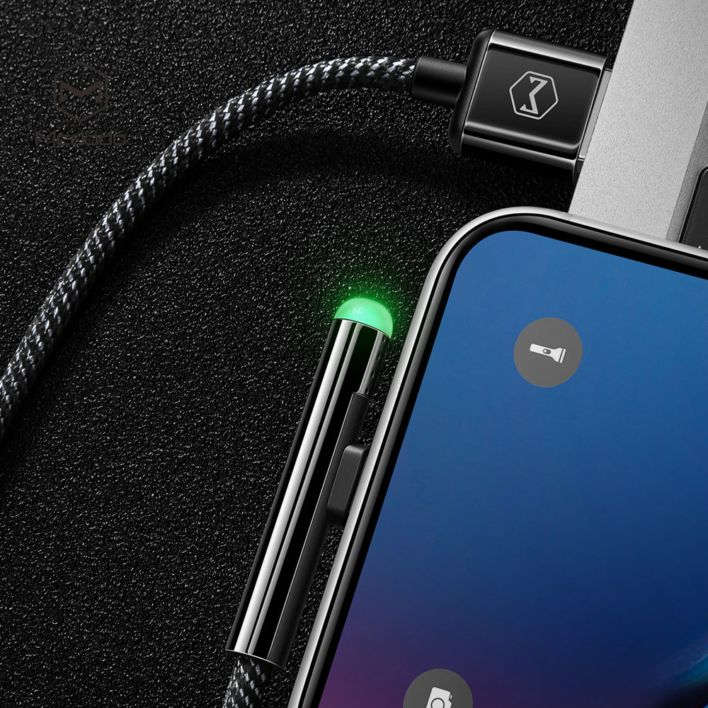 Mcdodo LED USB Cable Fast Charging Cable Mobile Phone Charger Cord Usb Cable For iPhone Apple X XS MAX XR 8 7 6 6s plus - Hot Phone Tech