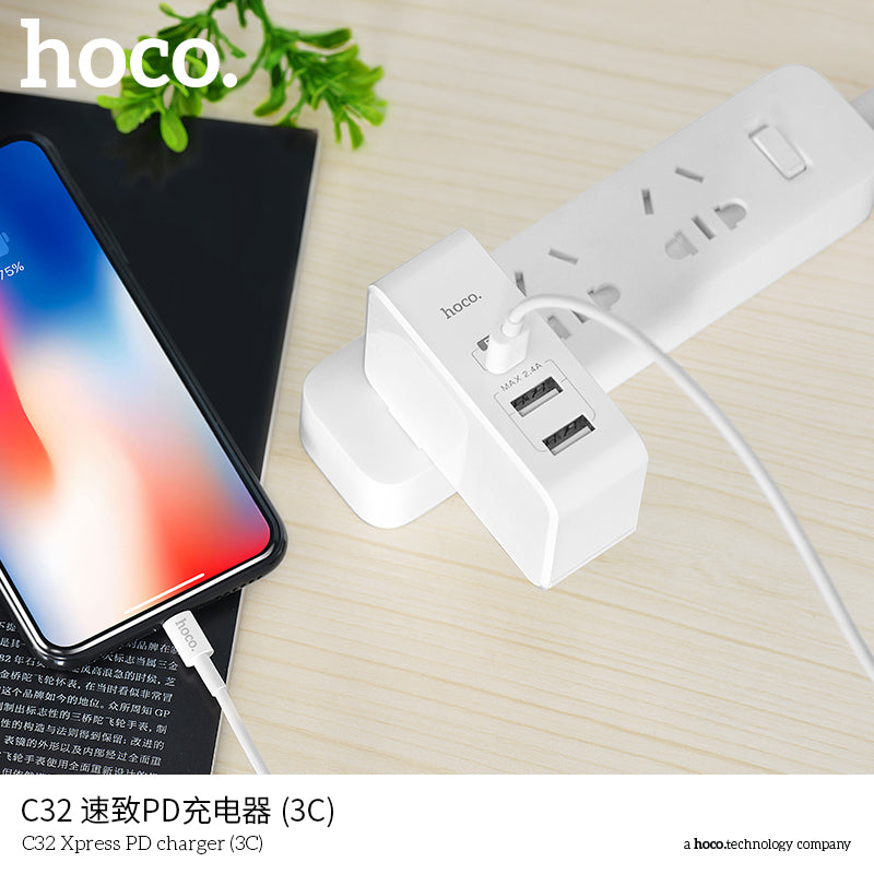 HOCO  29W USB Charger Quick Charge 4.0 USB Type C Charger for iPhone XS MAX XS XR X 8 7 PD3.0 5A Fast USB Charger for Huawei Samsung Sony Google LG HUAWEI - Hot Phone Tech