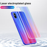 BASEUS New Gradient Color Tempered Glass Back Case For iPhone X/XS Protective Cases Shell Cover Skin - Hot Phone Tech