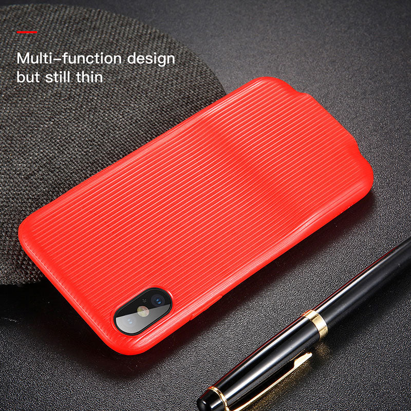 Baseus Audio Case For iPhone X  Earphone Headphone Adapter Splitters Aux Cover Case - Hot Phone Tech