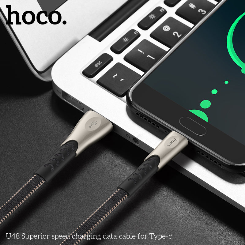 HOCO USB To Type C  Cable  Durable Zinc Alloy USB Type C Fast Charging Cable For Samsung HTC Google LG HUAWEI - Hot Phone Tech