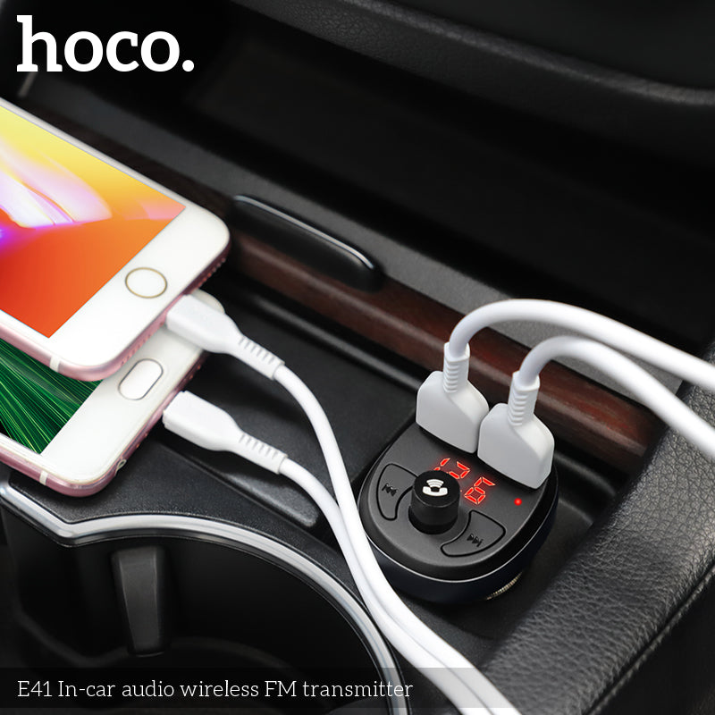 HOCO Car Charger For iPhone Samsung Sony Google LG HUAWEI Mobile Phone Handsfree FM Transmitter Bluetooth Car Kit LCD MP3 Player Dual USB Car Phone Charger - Hot Phone Tech