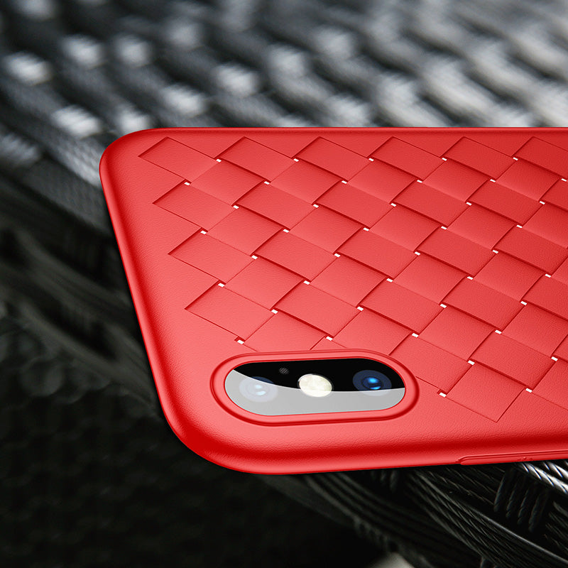 Baseus Luxury Grid Weaving For iPhone X/XS Case Ultra thin Soft Cases BV Protective Case Smooth Cover Matte - Hot Phone Tech