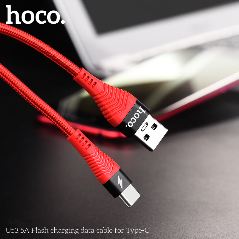 HOCO 5A Quick Charge USB Type C Cable for Samsung Huawei LG Google HTC Sony  ALL Android Fast Charging USB C Super Charge Data Cable - Hot Phone Tech