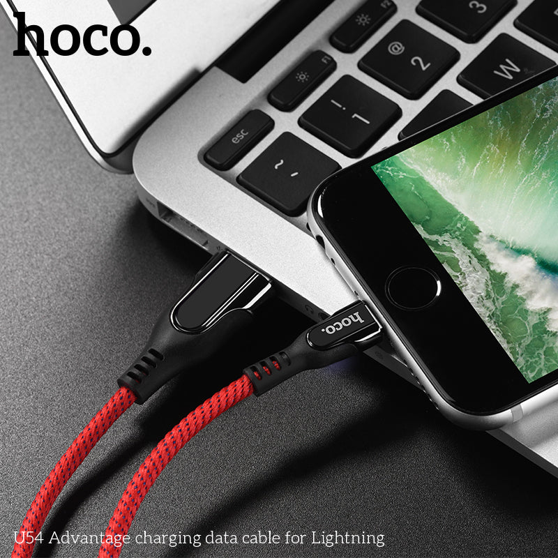 HOCO USB To Lightning Smart Power Off Indicator Fast Charging Data SYNC Wire Cord Charger For Apple iPhone XS MAX XS XR 8 7 6 Plus iPad - Hot Phone Tech