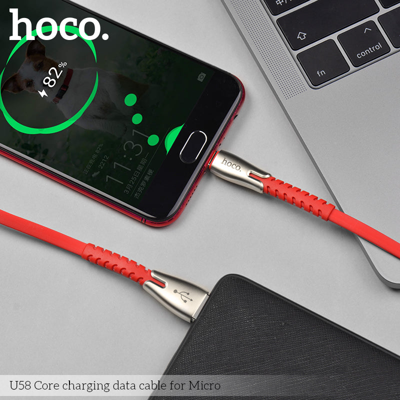 HOCO U58  USB-A To Micro USB Fast Cable QC Quick Charger Charging For Samsung LG HTC Google HUAWEI All Android Device - Hot Phone Tech