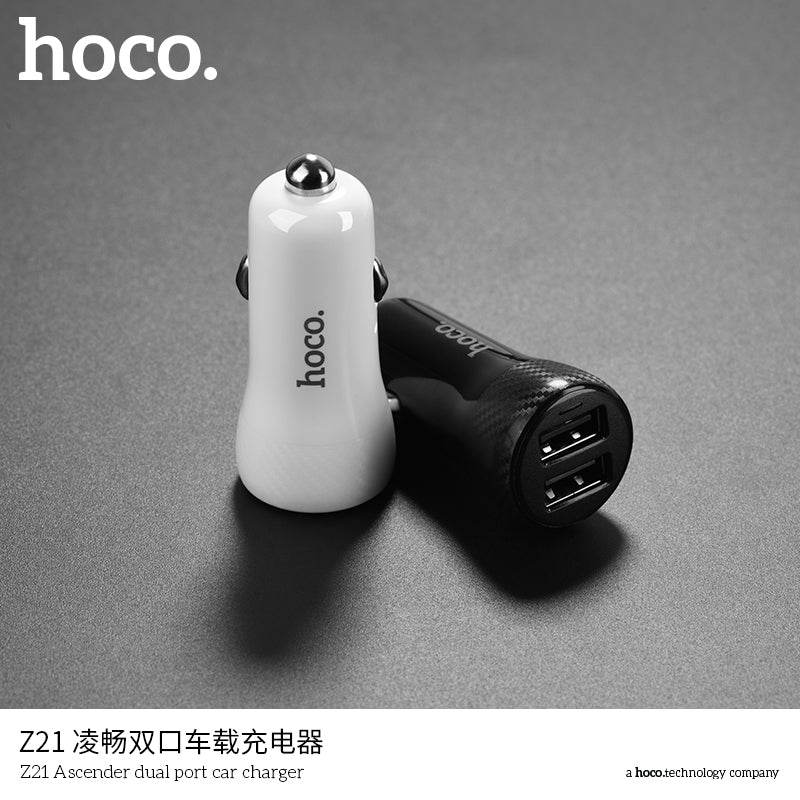 HOCO Dual Output USB Car Charger For Iphone XS MAX XS XR X 8 7 Plus Universal 5V2.4A Fast USB Charger Adapter For Samsung Sony Google LG HUAWEI - Hot Phone Tech
