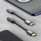Baseus Type C To 3.5mm AUX Earphone Headphone Adapter USB C To 3.5 Jack Audio Cable For Samsung Google Sony LG HUAWEI - Hot Phone Tech