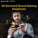 Baseus H08 Real 3D Stereo Game Wired Earphone 3.5mm Jack Dual Driver with Mic for PS4 Gaming Earpiece Phone Music auriculares - Hot Phone Tech