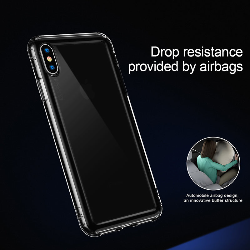 Baseus Anti-knock Phone Case for iPhone XS/X XR XS Max Clear Soft TPU Protective Cover - Hot Phone Tech