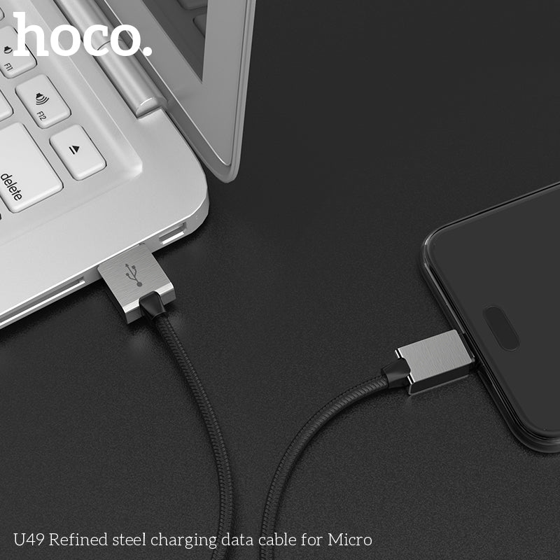 HOCO U49 1.2m Micro USB Fast Charging Data Sync Charger Cable for Samsung Sony LG Google HUAWEI Android Phones USB Charging Cord Charger Mobile Phone Cable - Hot Phone Tech