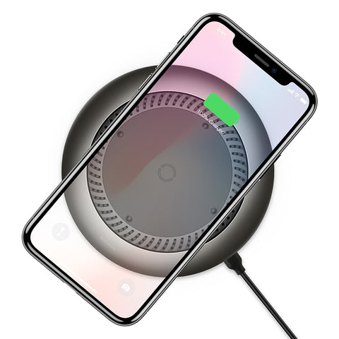 Baseus 10W Qi Wireless Charger For iPhone Xs Max X 8 Huawei LG Samsung Google Fan Radiating Fast Wireless Charging Pad