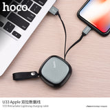 HOCO Aluminum Shell Portable Design Mini USB Cable For Apple Plug phone Charging Cables For iPhone X XS Max XR 8 7 6s Plus ipad - Hot Phone Tech