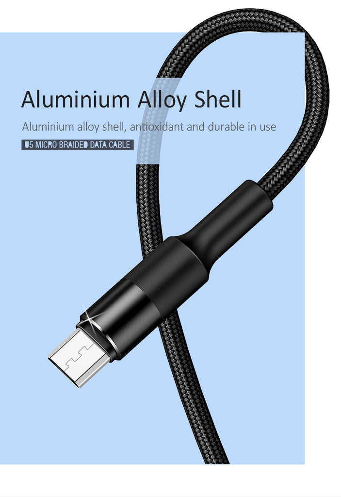 USAMS Original Mobile Phone Micro USB Cable Sync Data Line Microusb Cable For Samsung Sony LG HUAWEI Google - Hot Phone Tech