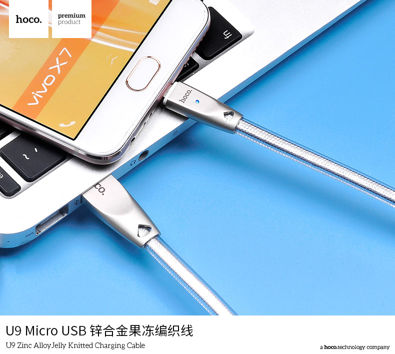 HOCO Micro USB Cable Zinc Alloy Jelly For Samsung Sony LG Google Xiaomi Huawei Fast Charge Data Sync Wire - Hot Phone Tech