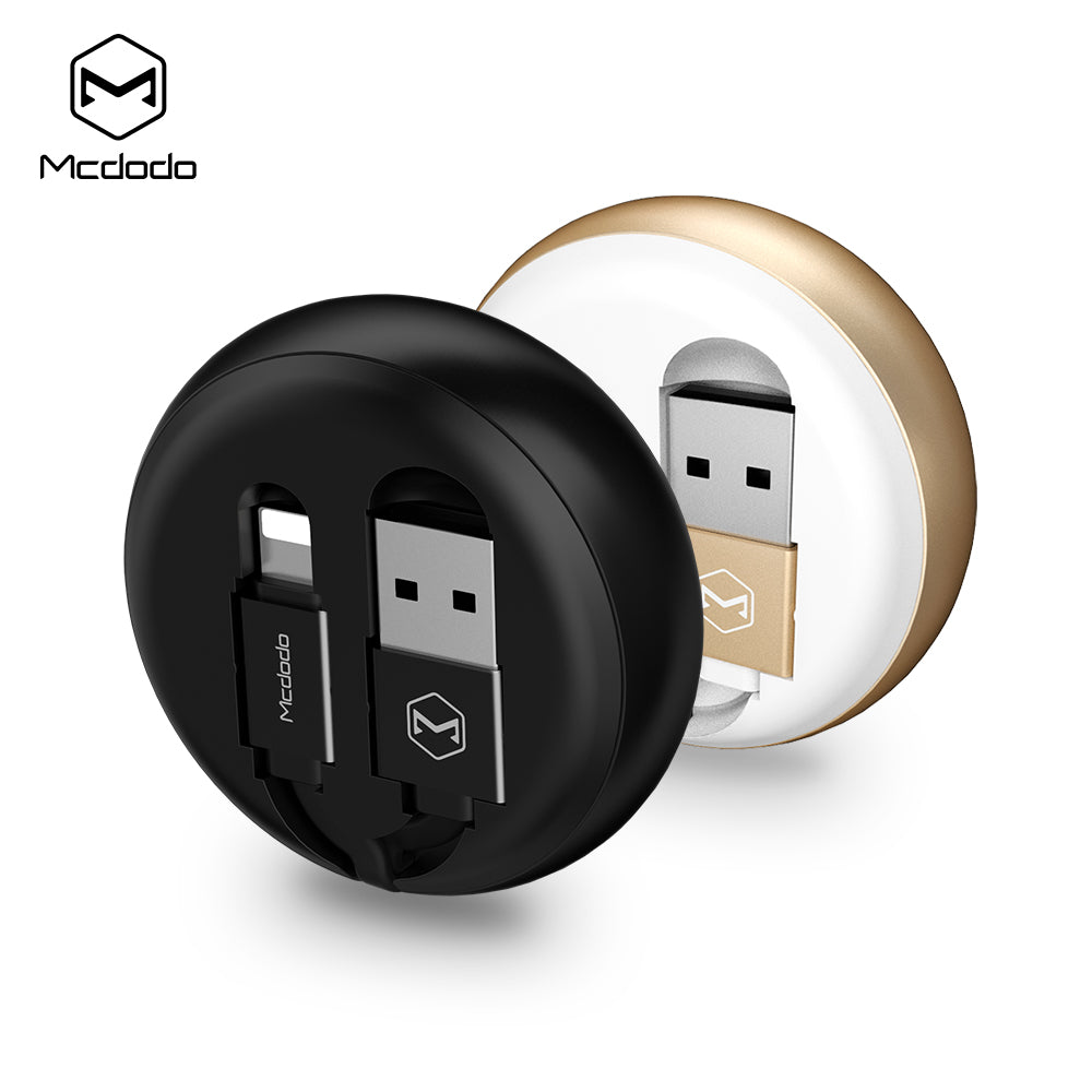 Mcdodo Flexible Cable Lightning to USB Cable For iPhone XS MAX XR XS X 7 8 6 6s Retractable Anti-Winding Fast Charging Data Cable - Hot Phone Tech