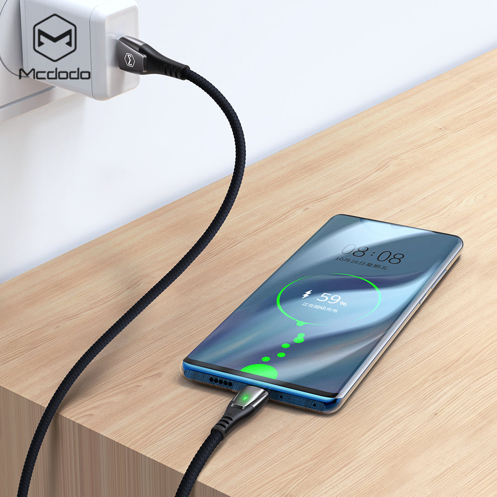 Mcdodo 40W USB Type C 5A Super Fast Charging  Flash Charge Auto Disconnect Data Cable For Samsung Sony LG HUAWEI Google - Hot Phone Tech