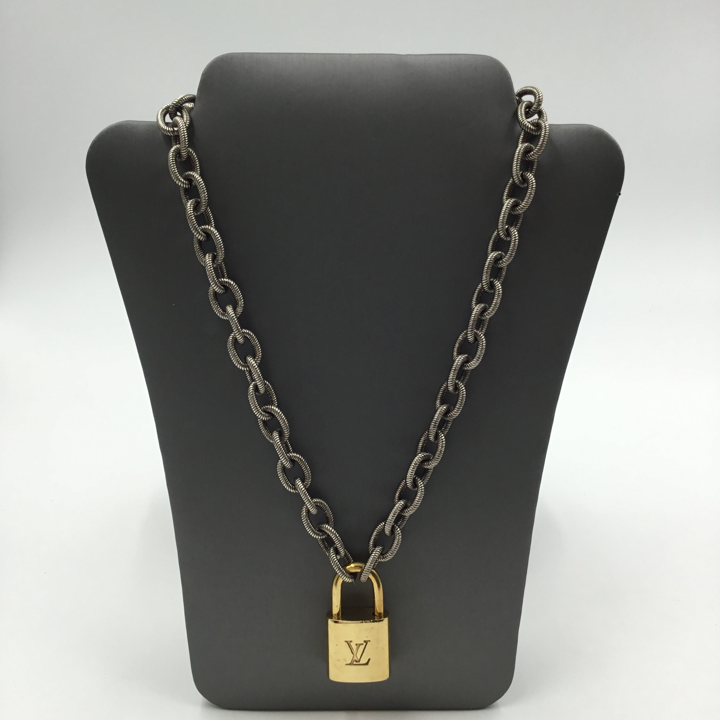 LV Pendant and Chain Necklace