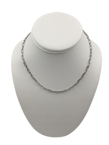 "Paper Clip Link 18"" Sterling Silver Necklace"