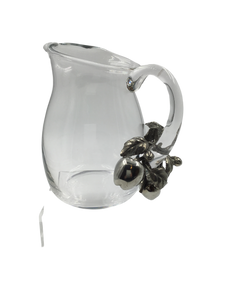 Vagabond House Glass Pitcher with Apple Blossoms