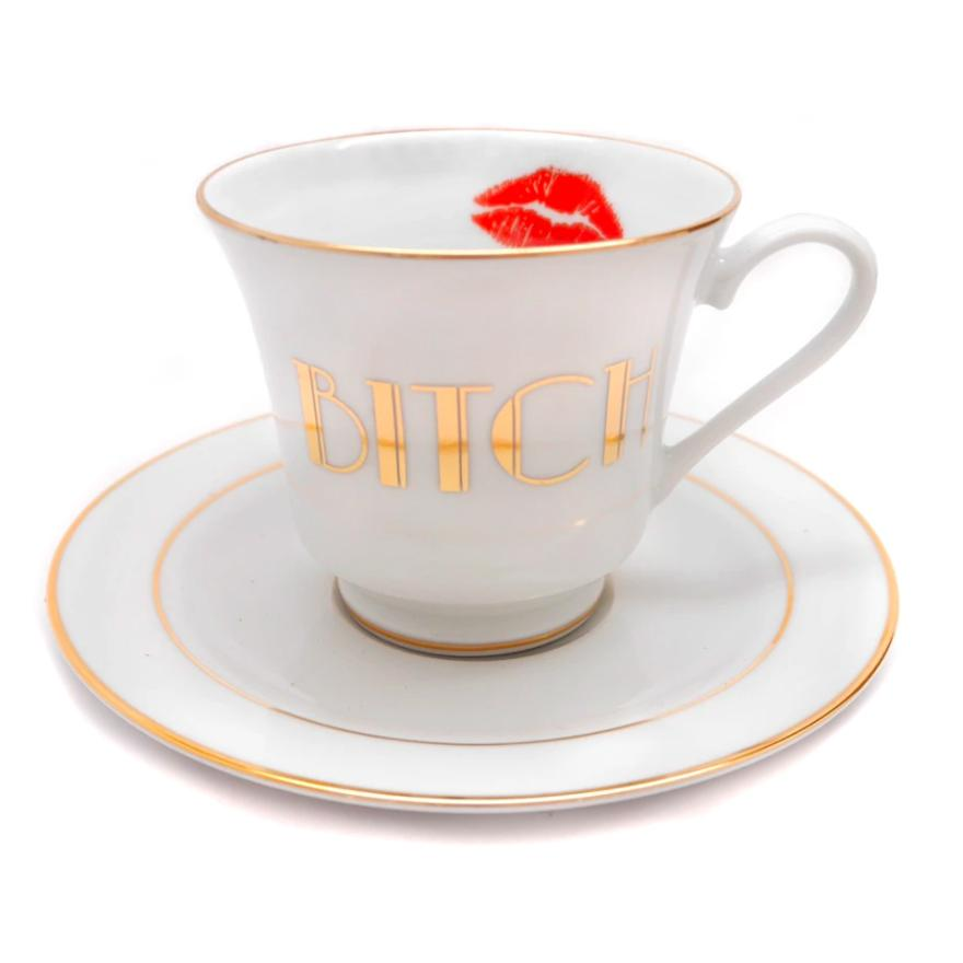 Bitch Teacup and Saucer Set
