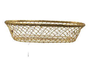 Gold Twisted Wire Rectangle Multi-Use Basket