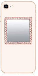 Idecoz Phone Mirror Clear Crystal Rose Gold