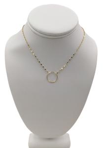 Shimmer Chain O Ring Necklace