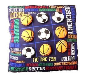 Tic Tac Toe Soccer & Basketball Game Pillow