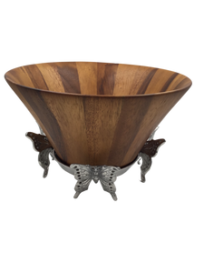 Arthur Court Butterfly Wood Salad Bowl