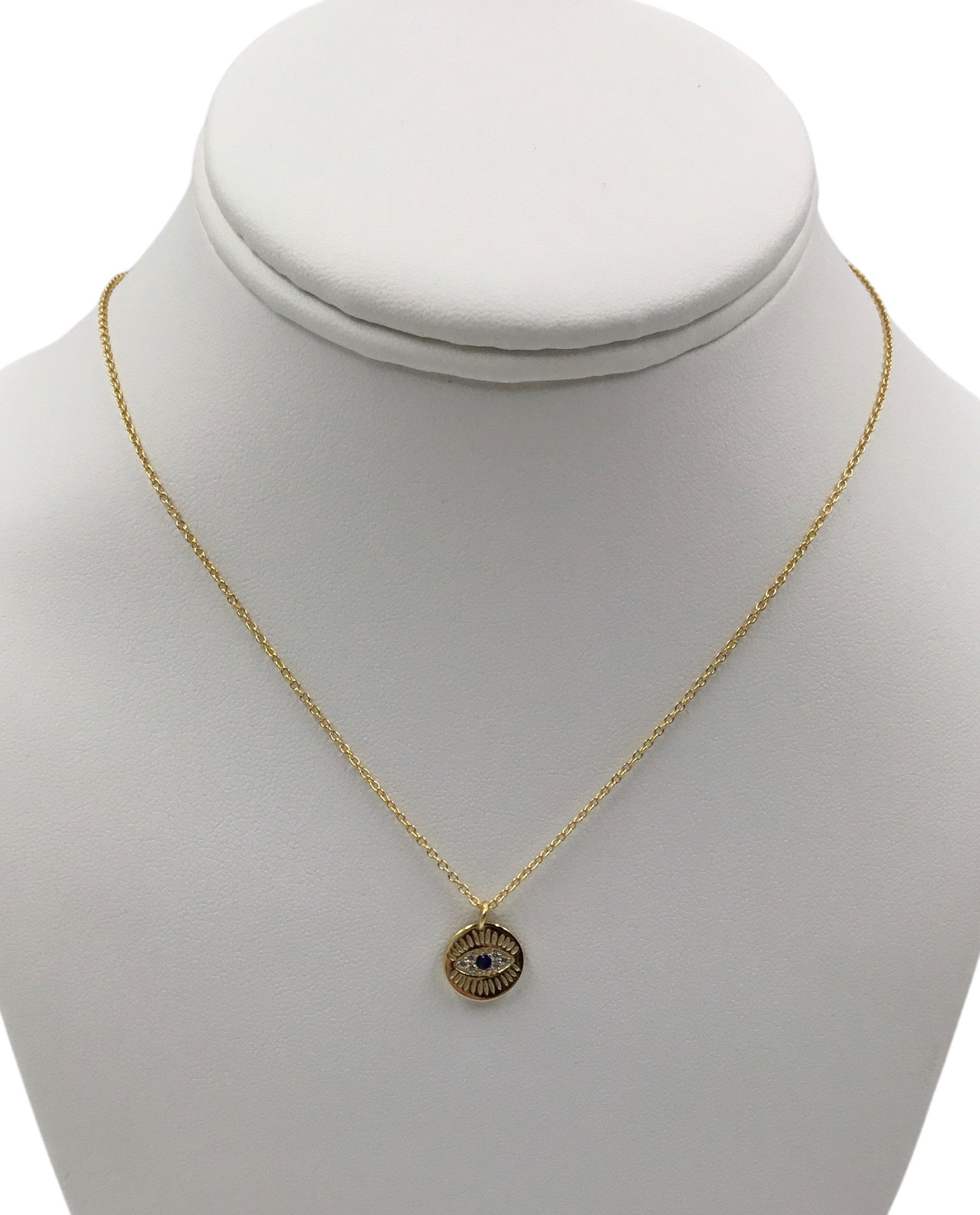 Evil Eye gold-plated Pendant  Necklace