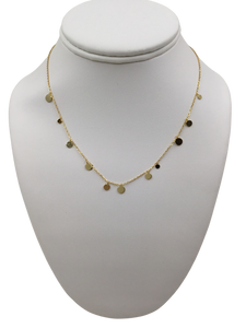 Alternating Discs Delicate Gold-plated Sterling Necklace