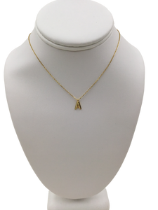 Sterling Gold-plated Delicate Initial Necklace A
