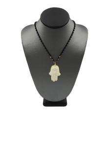 Higher Ground Carved Bone Hamsa Necklace
