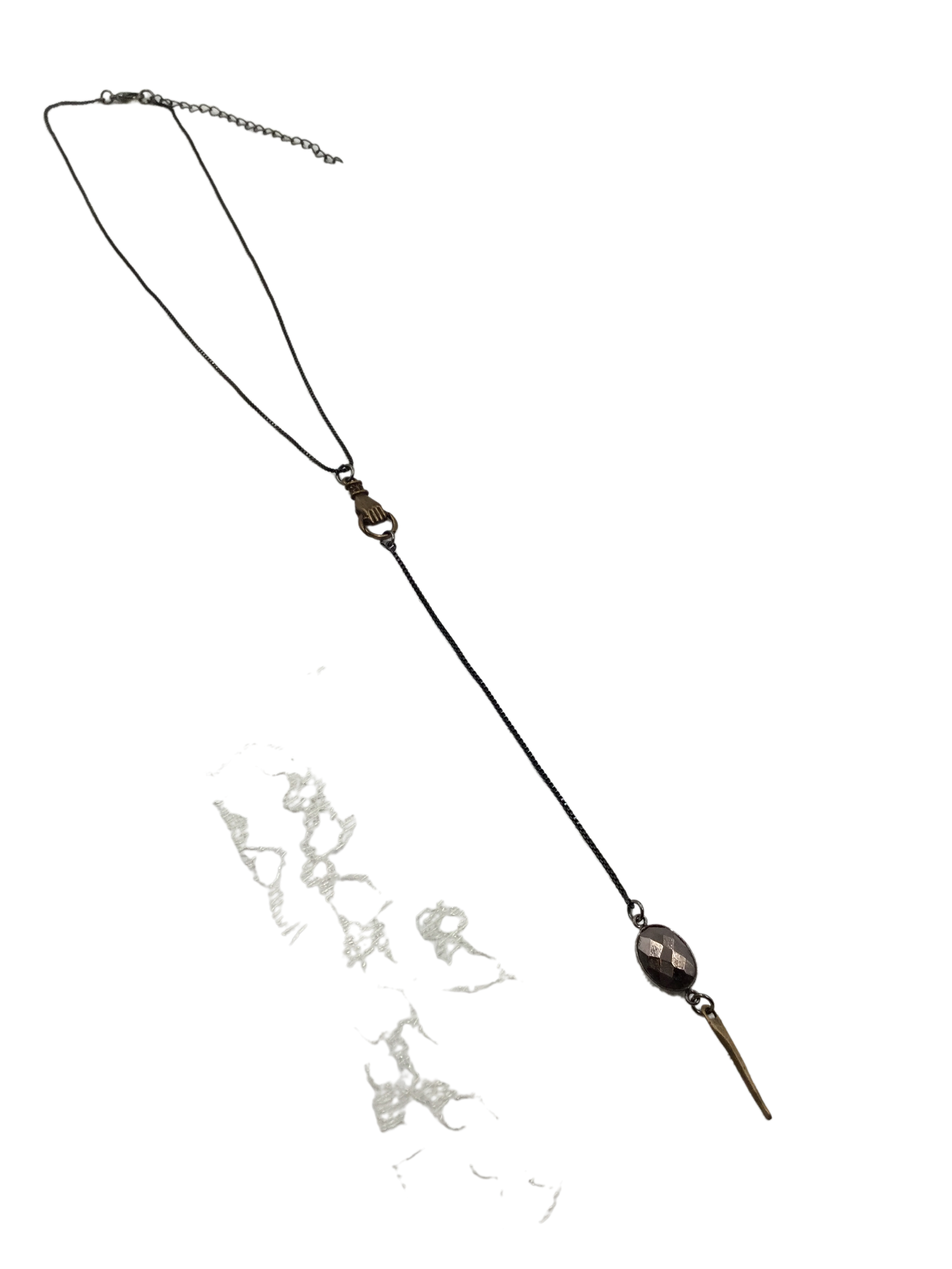 Pyrite Point Y necklace