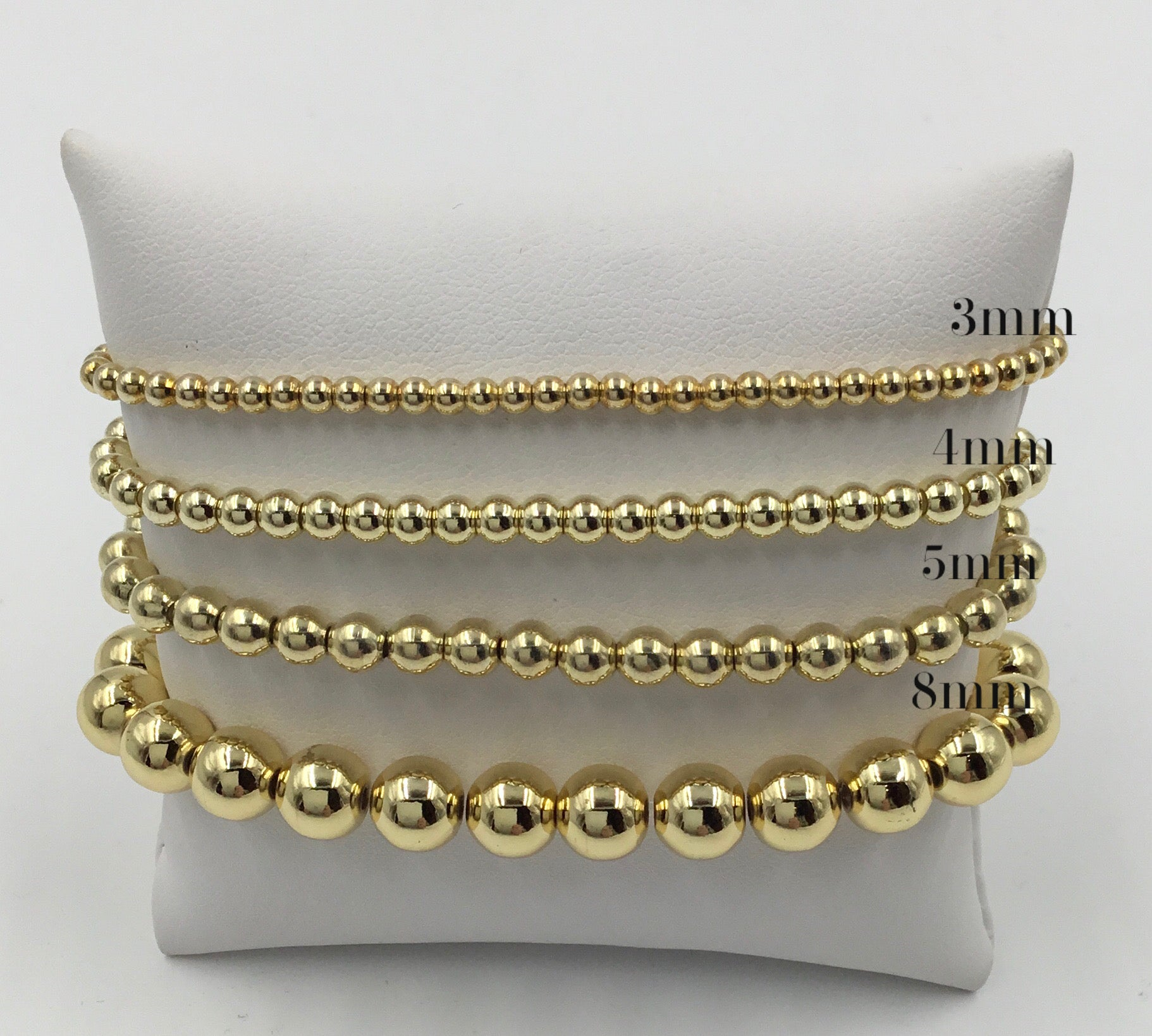 Metal Bead 4mm Stretch Bracelet