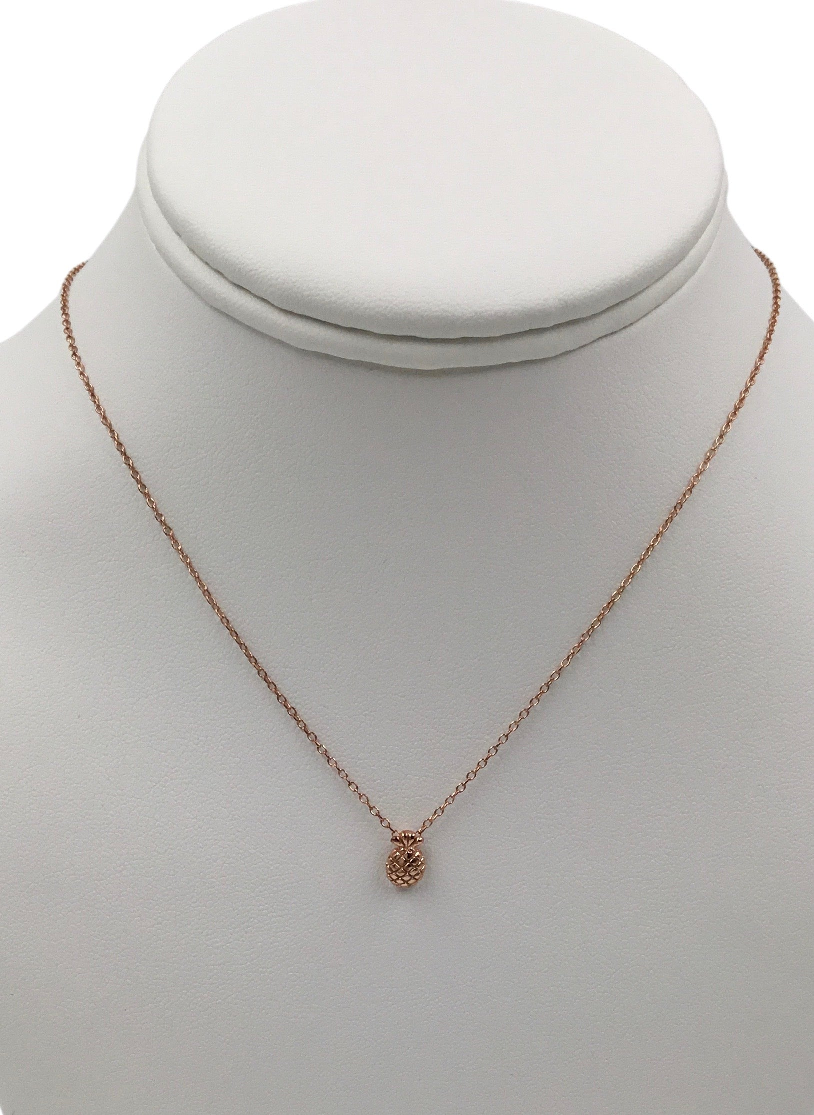 Tiny Pineapple rose gold plated Pendant  necklace