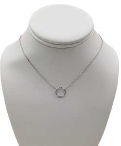 Eternity Circle Sterling Silver necklace