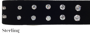 Sterling Cubic Zirconia Stud Earrings 1/2 carat .50mm