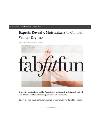 FabFitFun - Experts Reveal 5 Moisturizers to Combat Winter Dryness