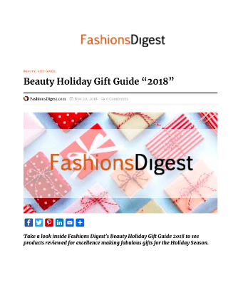 Fashions Digest - Beauty Holiday Gift Guide 2018