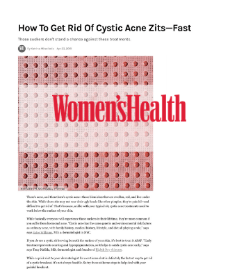 How To Get Rid Of Cystic Acne Zits—Fast