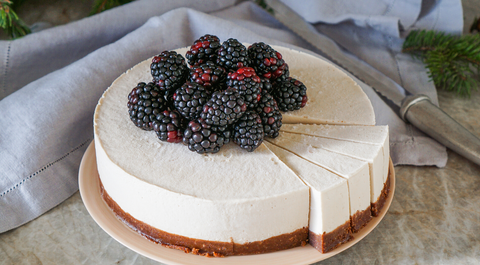 veganer new york cheesecake glutenfrei